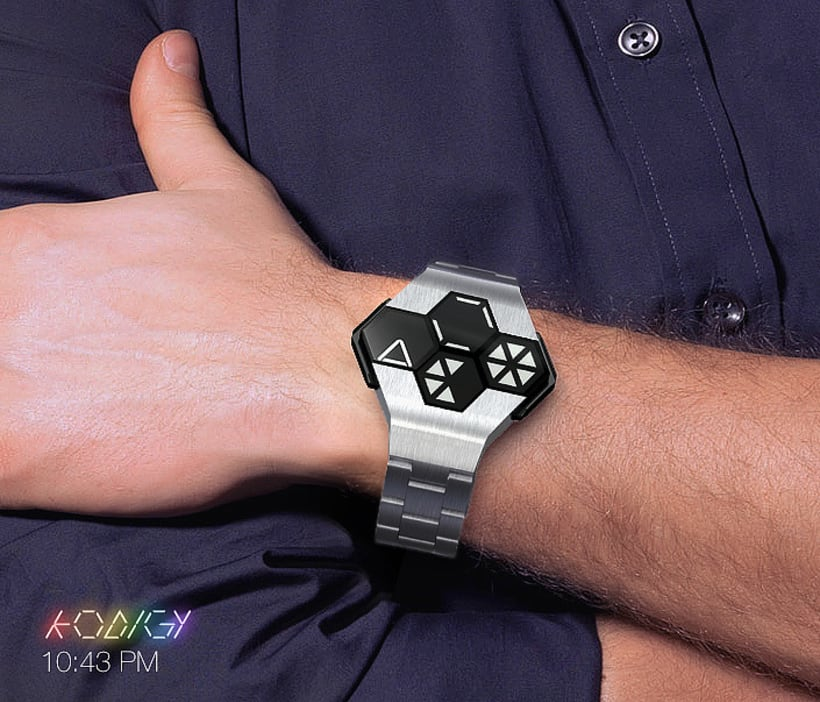 KODIGY. Watch concept design, with secret code 7