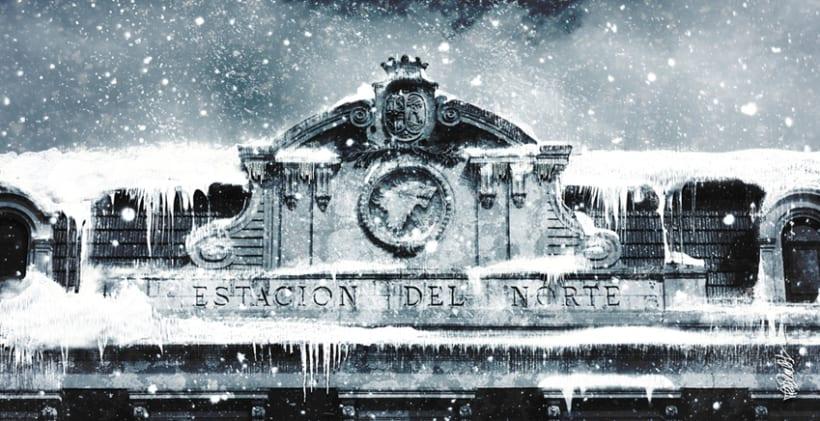 Estación del norte (Principe Pio) y la Catedral de la Almudena de Madrid al estilo Juego de Tronos 0