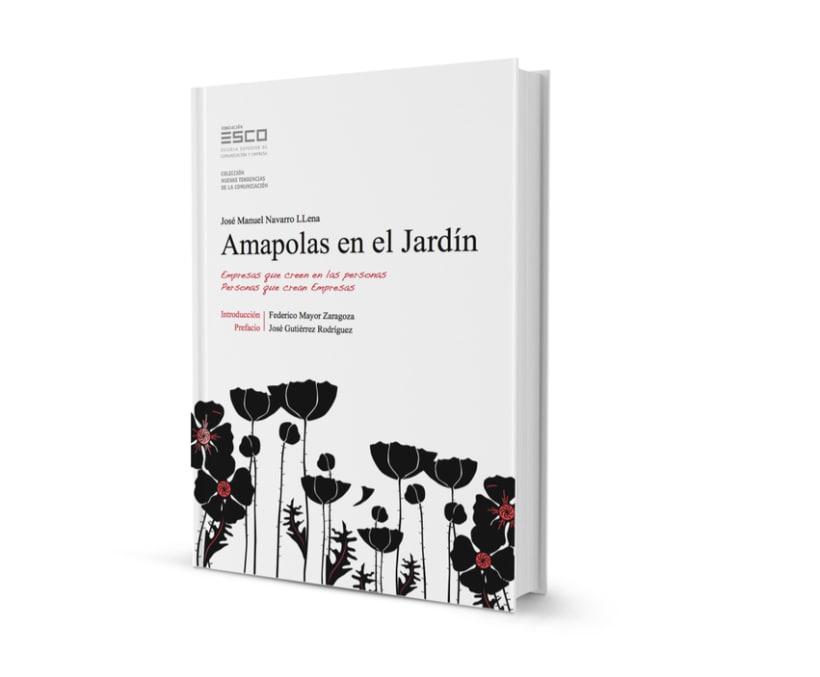 """Diseño, Ilustración y Maquetación del Libro """"Amapolas en el Jardin"""" (ESCO) 1"""