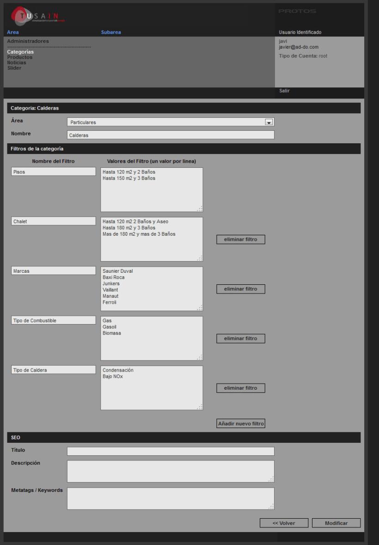 PHP + MySQL + CMS (Gestor de Contenidos) - Tusain 3