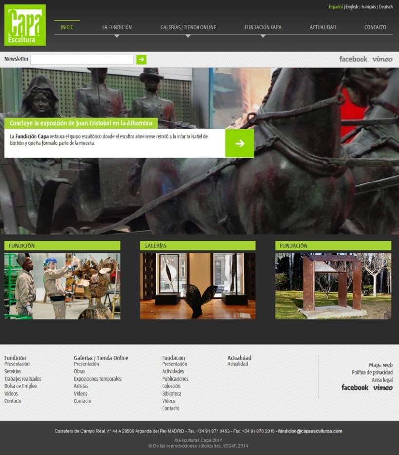xHTML + CSS + jQuery + PHP + MySQL + CMS (Gestor de Contenidos) - Capa Esculturas 0
