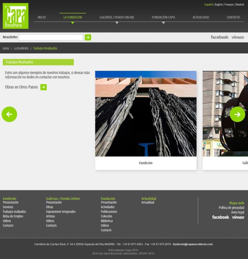 xHTML + CSS + jQuery + PHP + MySQL + CMS (Gestor de Contenidos) - Capa Esculturas 1