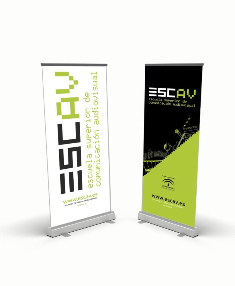 """Diseño de Display ,""""TOTEM"""", para ESCAV (Escuela de Comunicación Audiovisual) -1"""