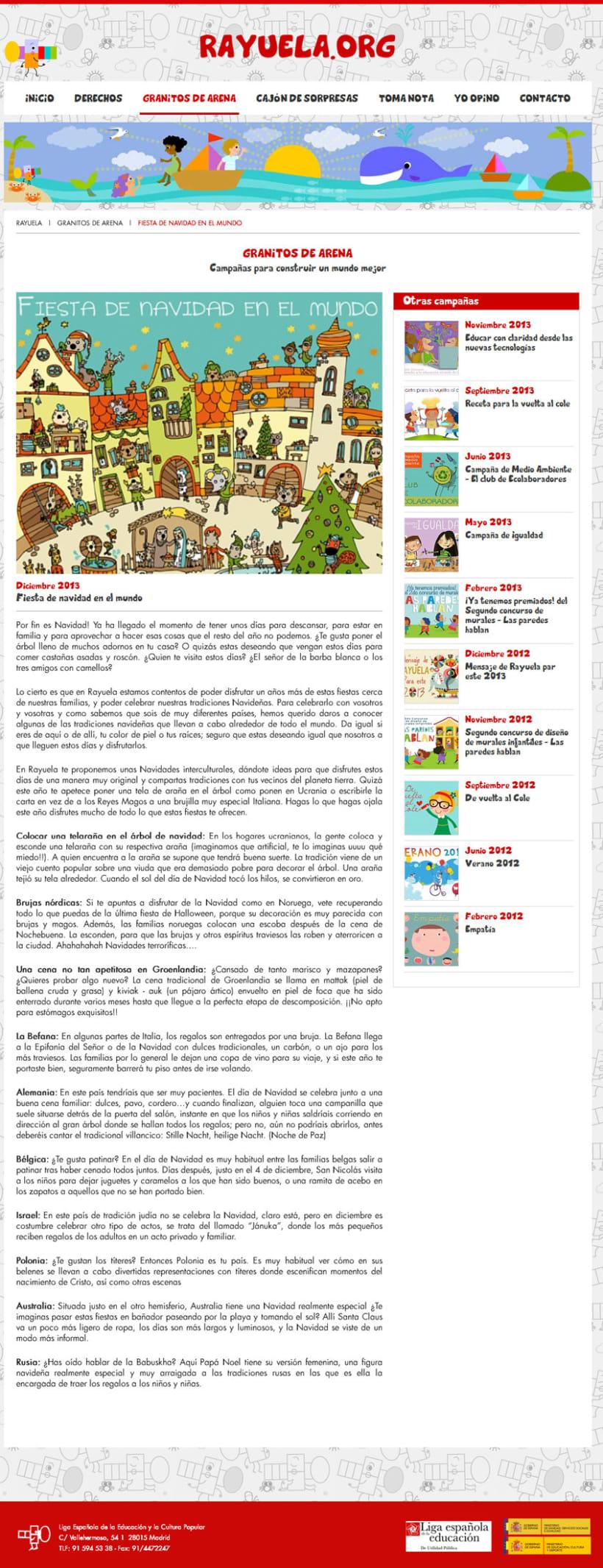 xHTML + CSS + jQuery + PHP + CMS (Gestor de Contenidos) - Rayuela 1