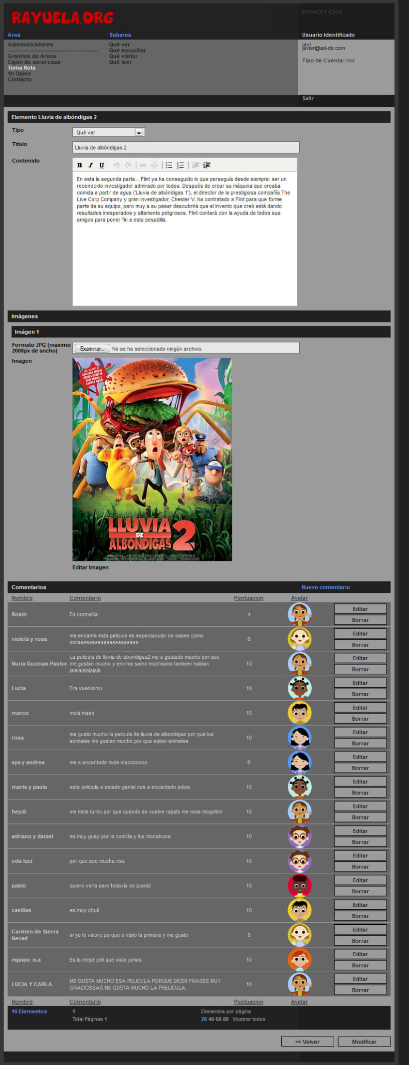 xHTML + CSS + jQuery + PHP + CMS (Gestor de Contenidos) - Rayuela 5