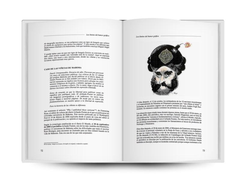 """Diseño y Maquetación del libro """"Dónde están los límites del Humor Gráfico?"""" (ESCO) 1"""