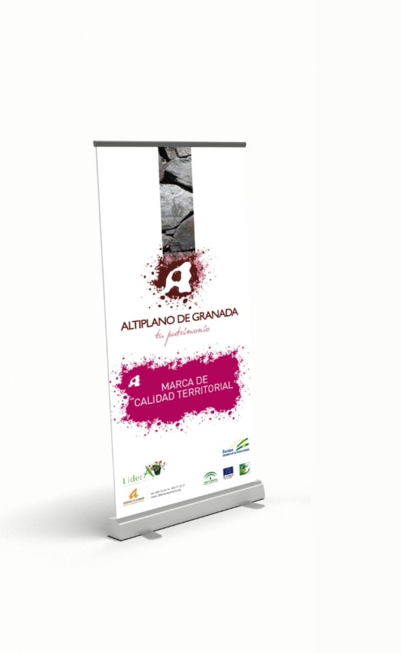 Marca de Calidad Territorial Altiplano de Granada (Tríptico Institucional y Totem para presentación) 4