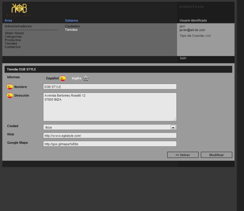 xHTML + CSS + jQuery + PHP + CMS (Gestor de Contenidos) - Kayoa Bay 4