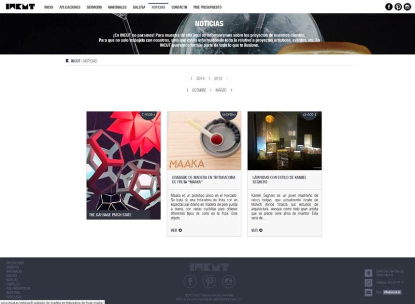 xHTML + CSS + jQuery + PHP + CMS (Gestor de Contenidos) - Incut 2