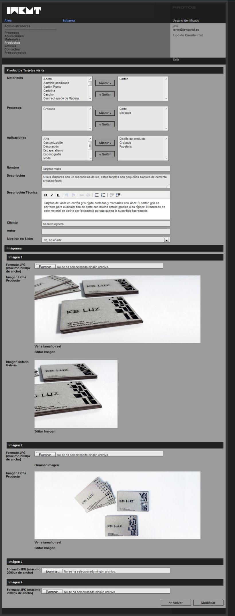xHTML + CSS + jQuery + PHP + CMS (Gestor de Contenidos) - Incut 4