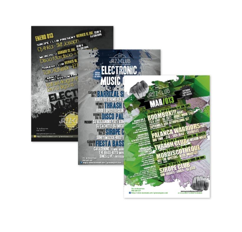 Díptico y Cartelería mensual (JazzClub) 3
