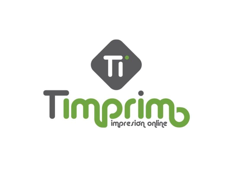 Logotipo / Marca Corporativa para imprenta online (Timprimo) -1