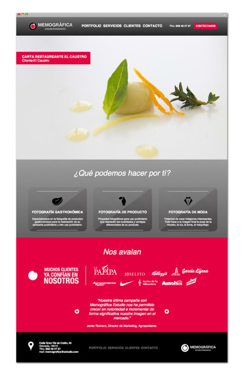 Diseño y Maquetación Web | Memográfica Estudio Granada 1