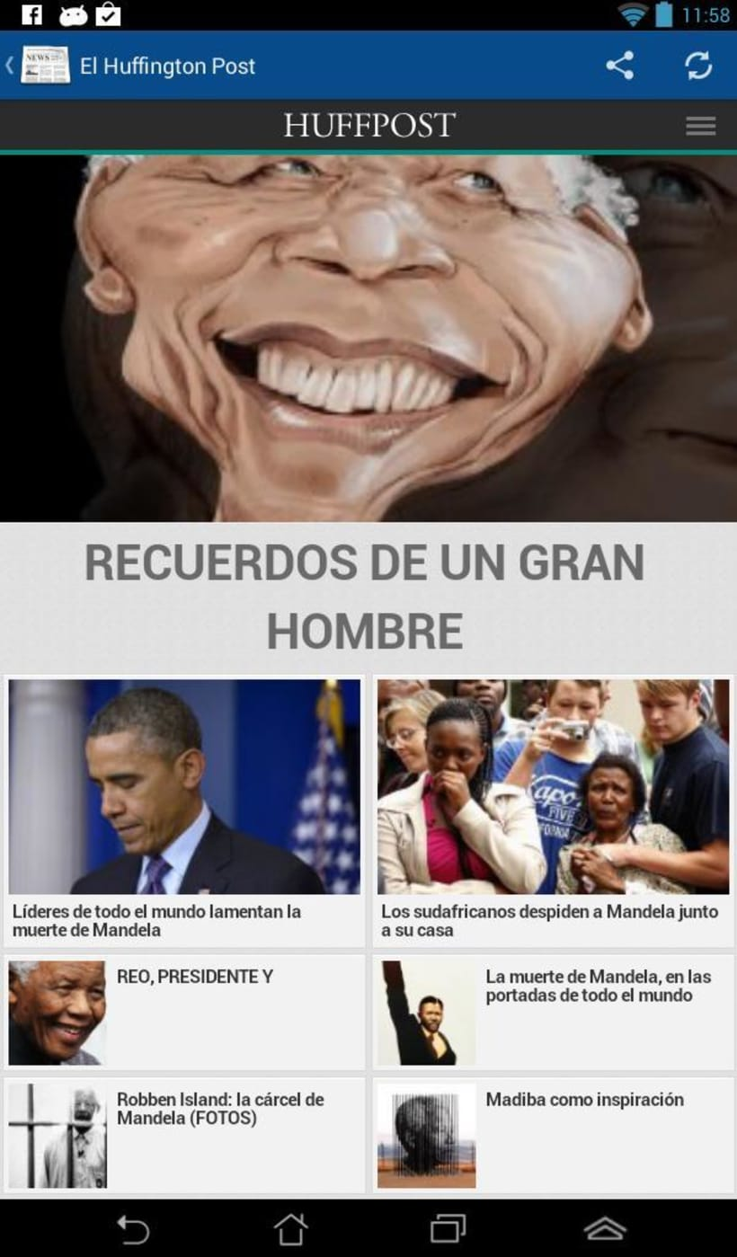 News4U - Noticias Prensa España Android 1