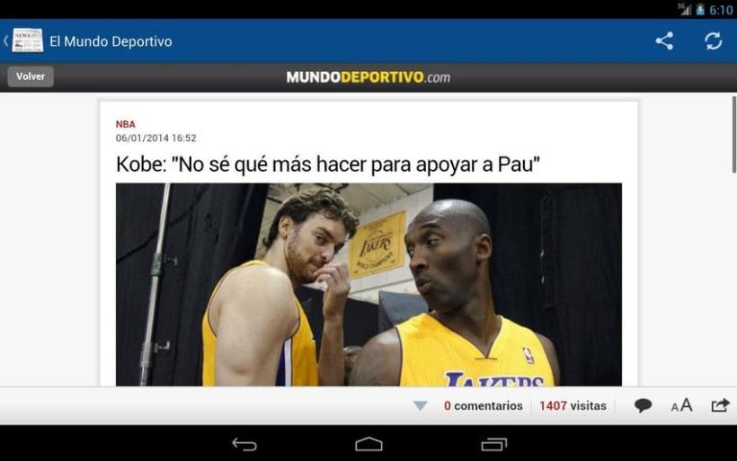 News4U - Noticias Prensa España Android 4