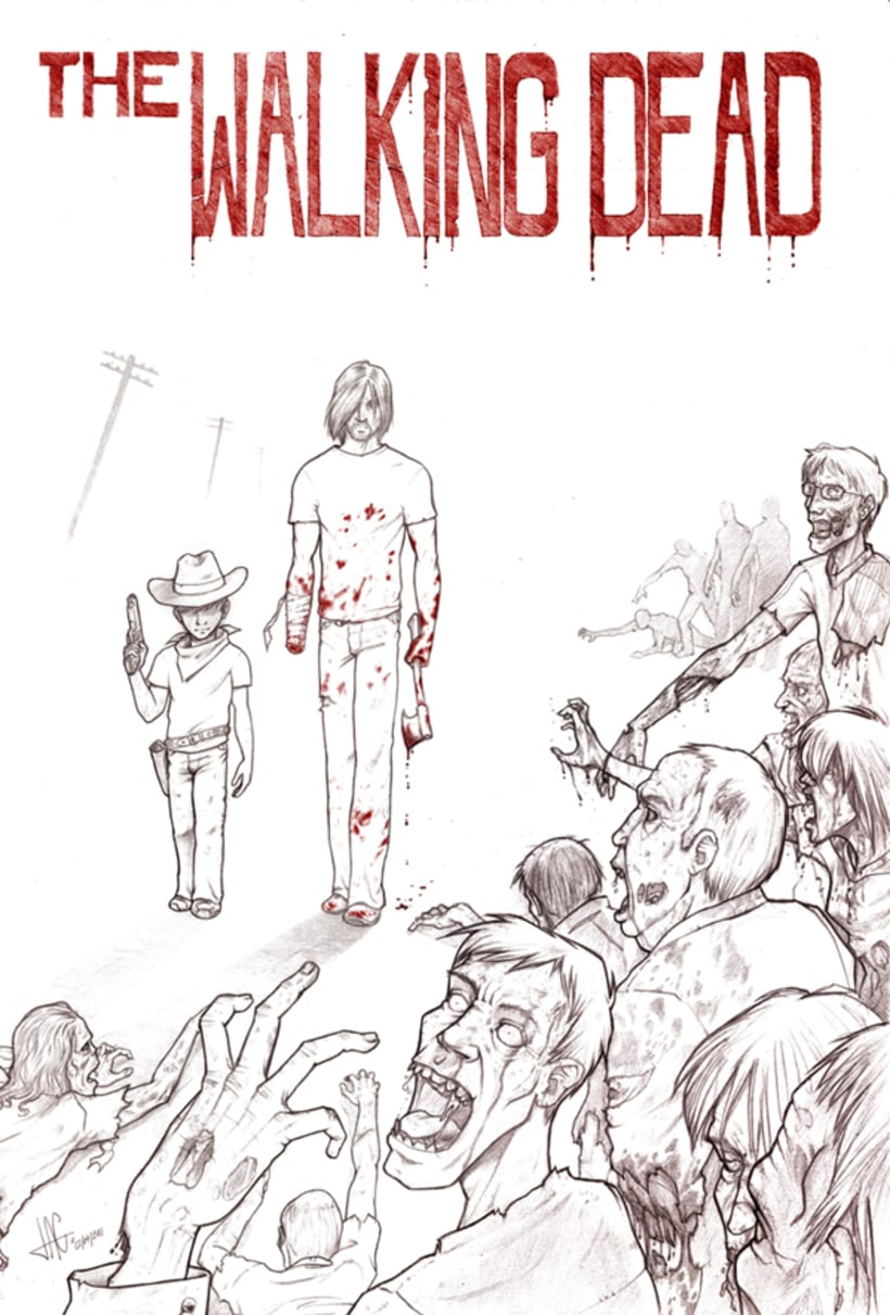 The Walking Dead - Comic Fan Art 0