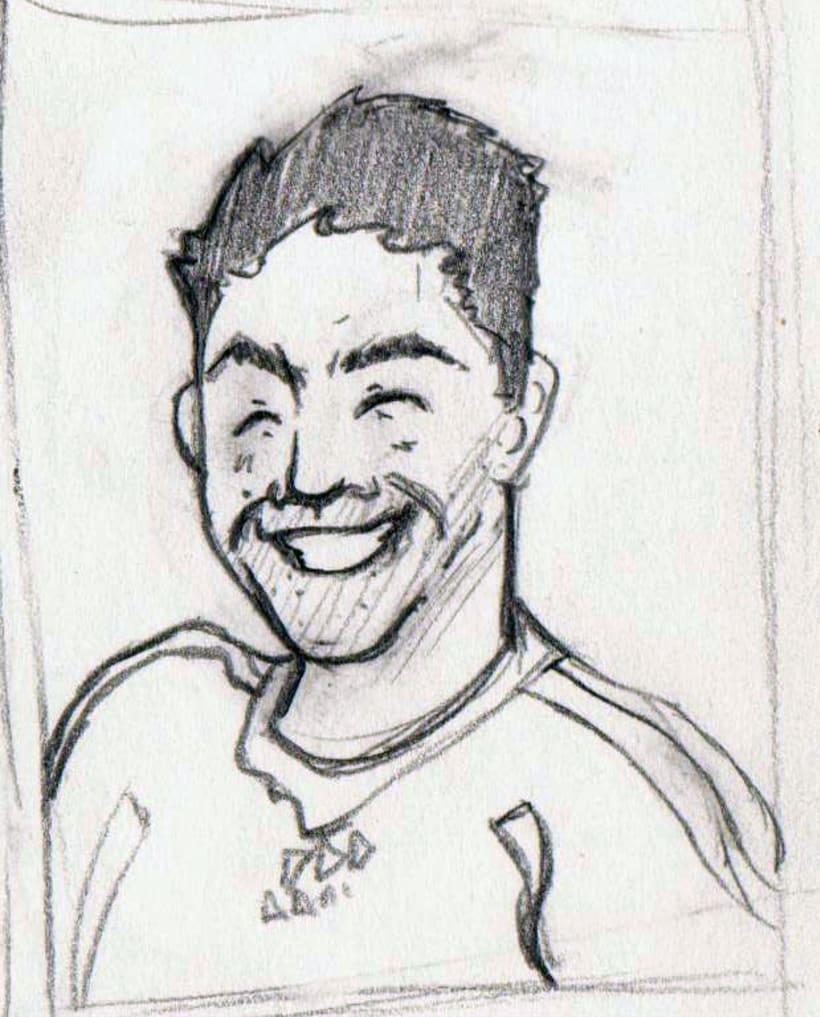 """Caricaturas: """"cromos de futbol"""" 1"""