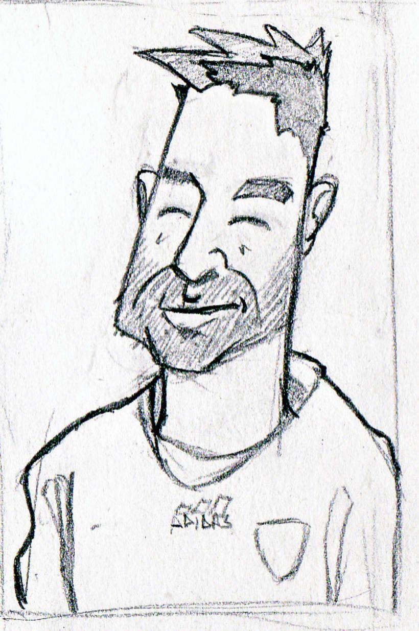 """Caricaturas: """"cromos de futbol"""" 5"""