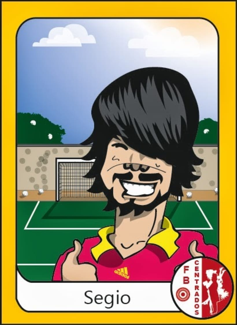 """Caricaturas: """"cromos de futbol"""" 12"""