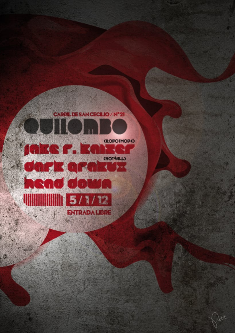 Cartel para discoteca Quilombo -1