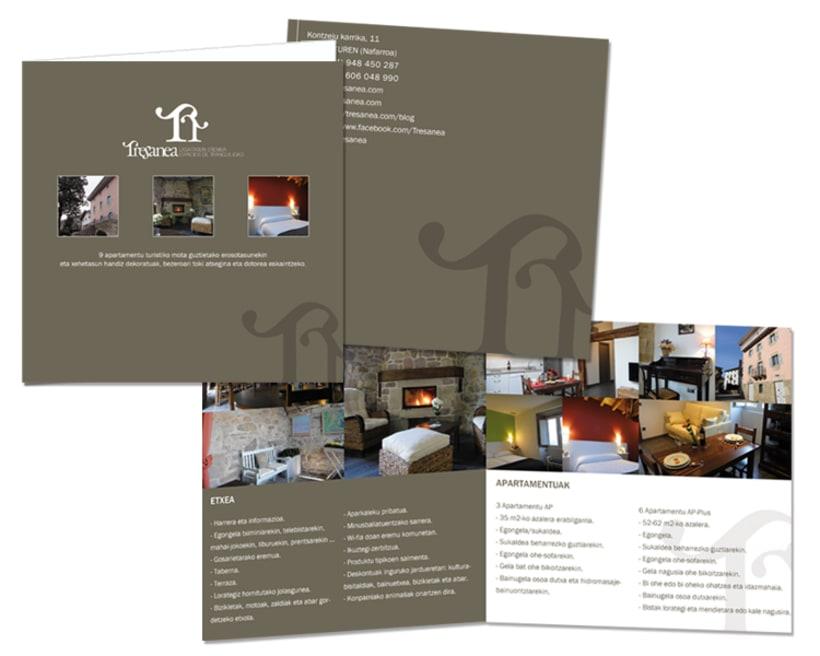 Diseño de marca para Tresanea Apartamentos Turísticos 1