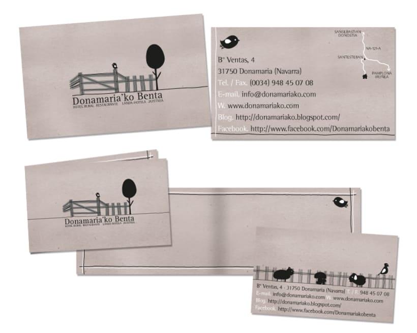 Diseño de marca para el Hostal Rural Donamariko Benta 0