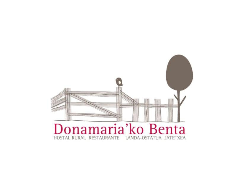 Diseño de marca para el Hostal Rural Donamariko Benta 1