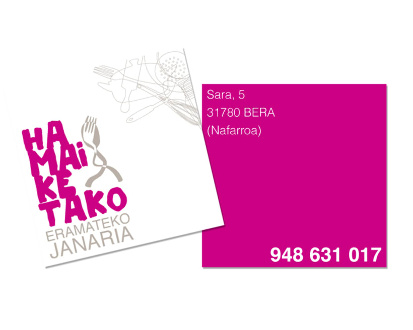 Diseño de marca para Hamaiketako, comida para llevar 1