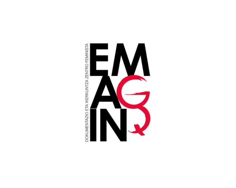 Diseño de marca para Emagin, centro de documentación e investigación feminista  0
