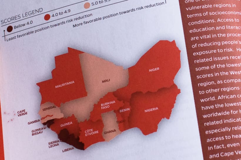 Risk reduction index in West Africa 4