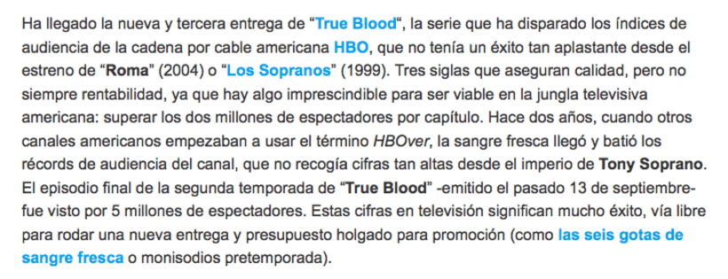 'True blood' 0