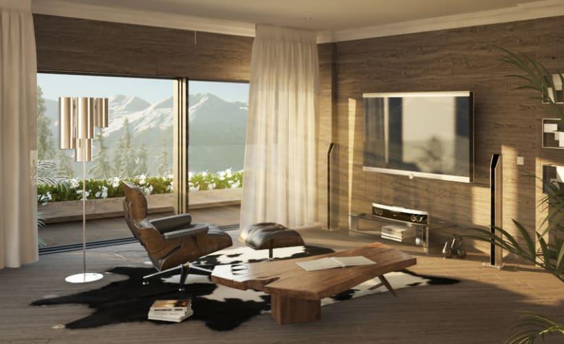 APARTMENT IN SWITZERLAND. Renders 3D Apartamento Interior 0