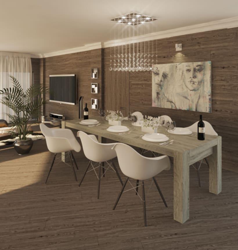 APARTMENT IN SWITZERLAND. Renders 3D Apartamento Interior 1
