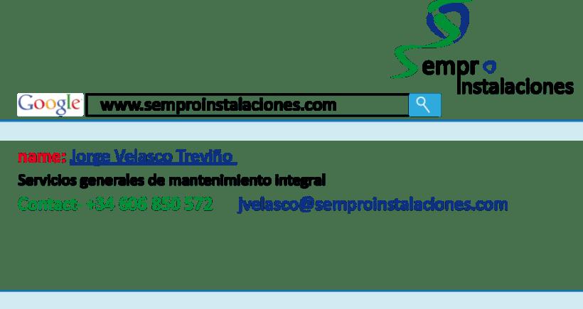Imagen de empresa realizada para Sempro Logo, Pagina web ... 1