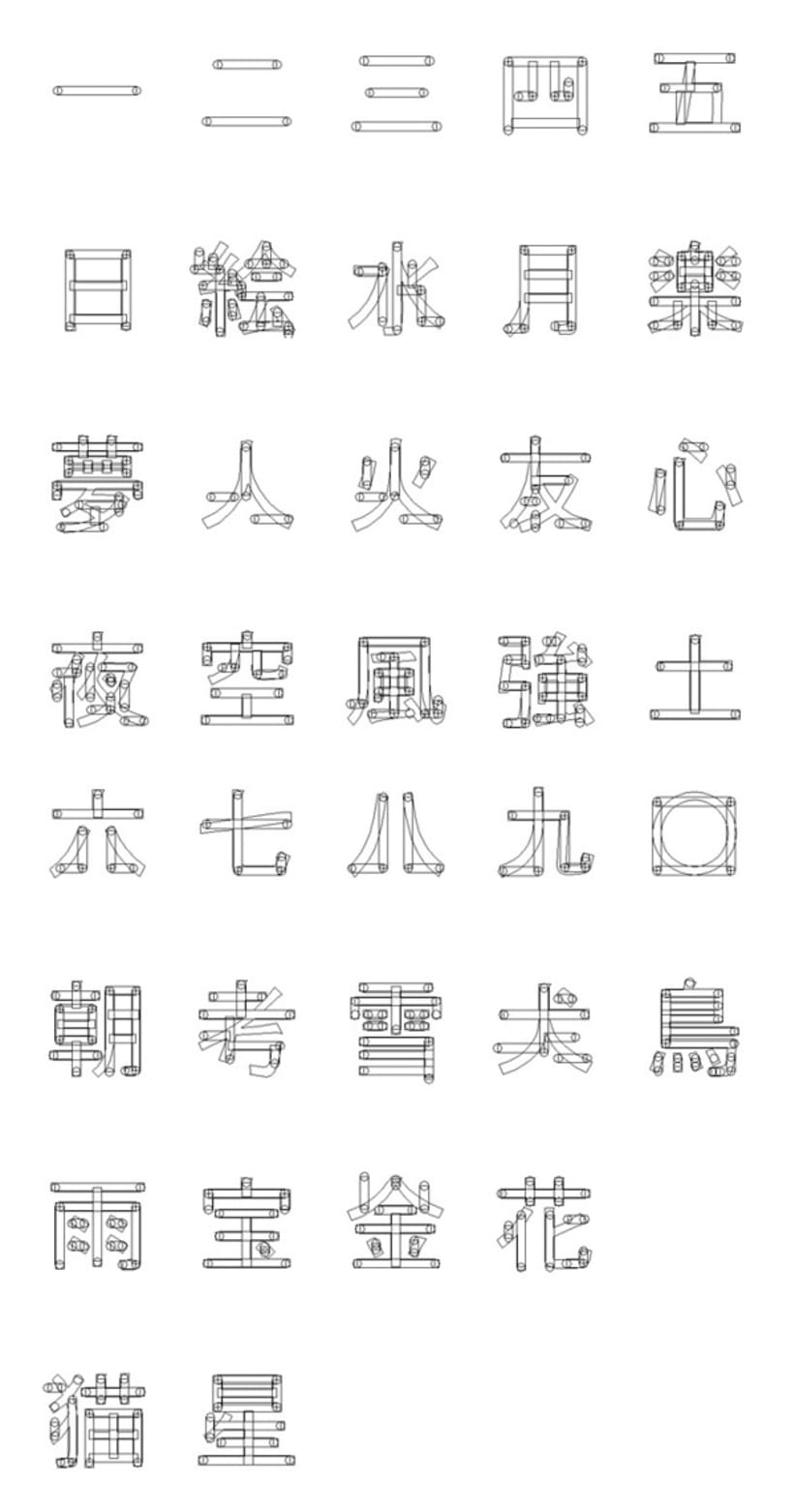 Asia. Icon Typography. 4