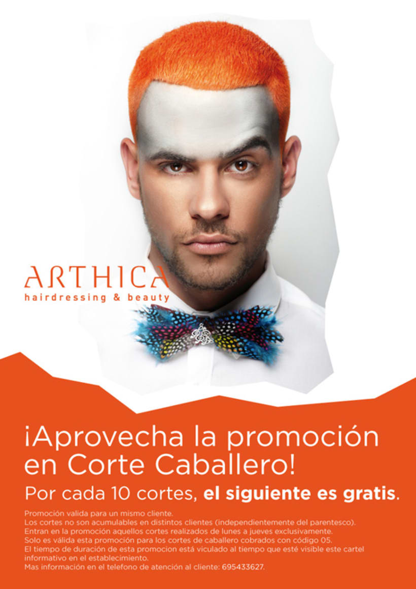 Arthica Hairdressing. Anuncios y cartelería. 0