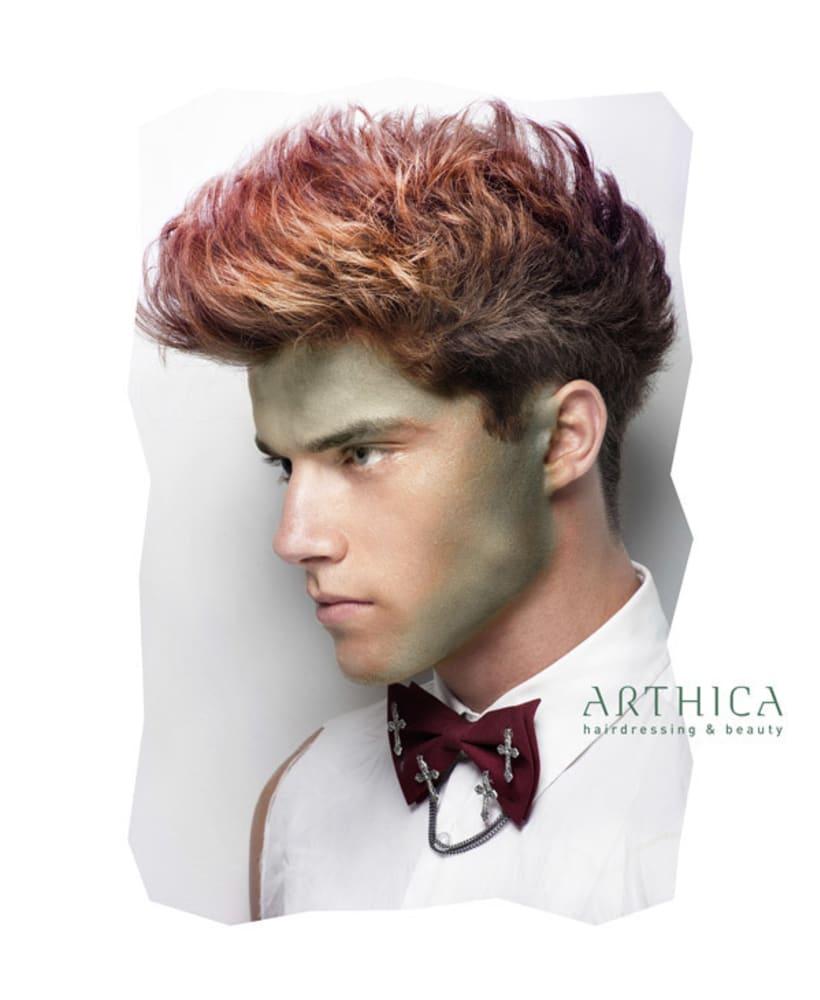 Arthica Hairdressing. Anuncios y cartelería. 3