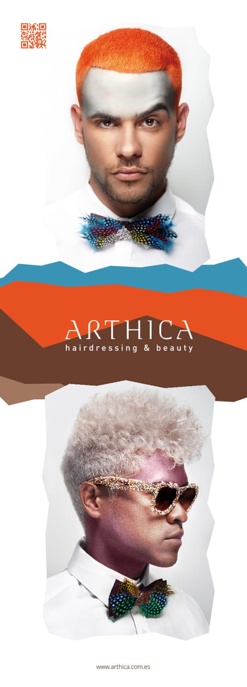 Arthica Hairdressing. Anuncios y cartelería. 2