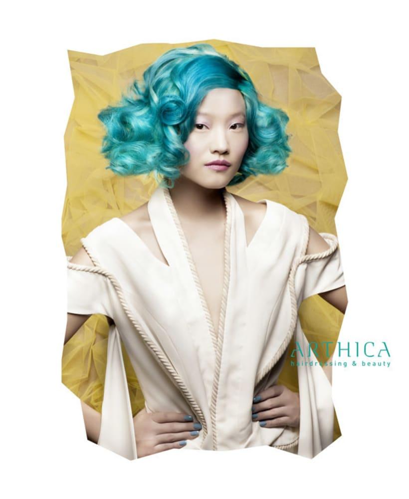 Arthica Hairdressing. Anuncios y cartelería. 4