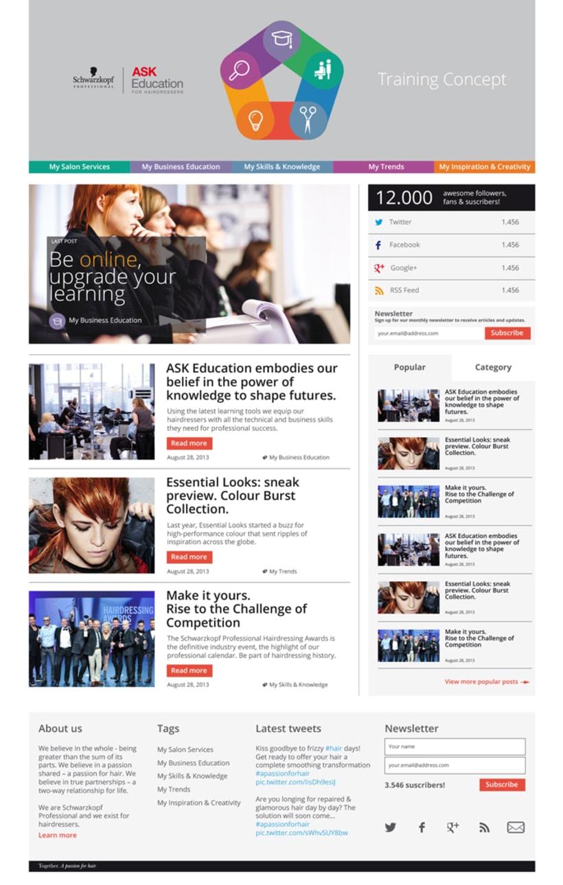 Training Concept Schwarzkopf Professional. Web & App. -1