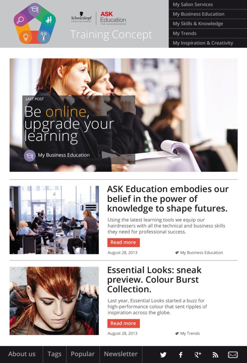 Training Concept Schwarzkopf Professional. Web & App. 0