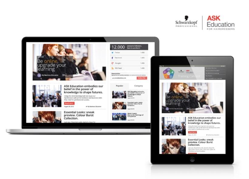 Training Concept Schwarzkopf Professional. Web & App. 1