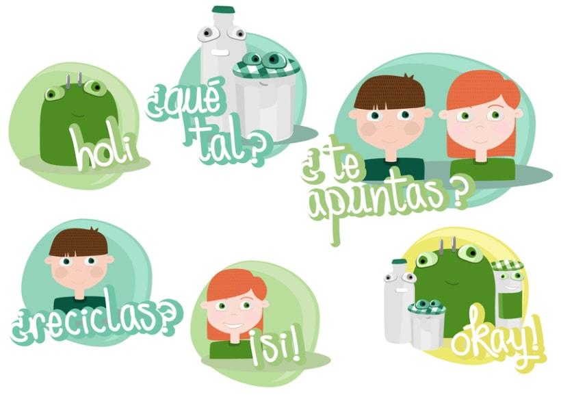 Stickers Line de Ecovidrio 5