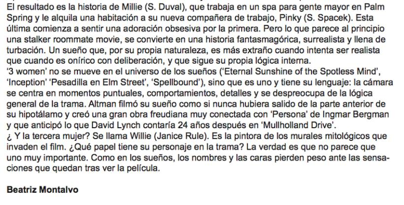 'El sueño de Robert Altman' 1