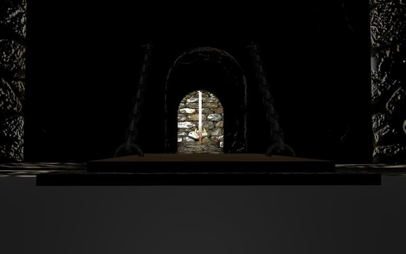 Ambientación de un Castillo y Espada Mediebal en 3d 0