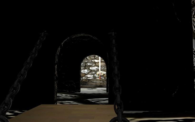 Ambientación de un Castillo y Espada Mediebal en 3d 1
