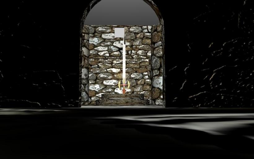 Ambientación de un Castillo y Espada Mediebal en 3d 2