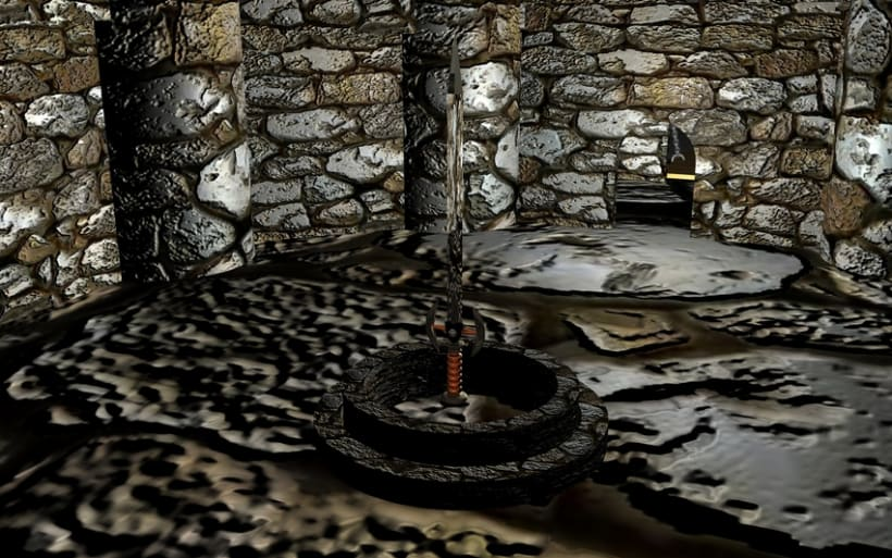 Ambientación de un Castillo y Espada Mediebal en 3d 3