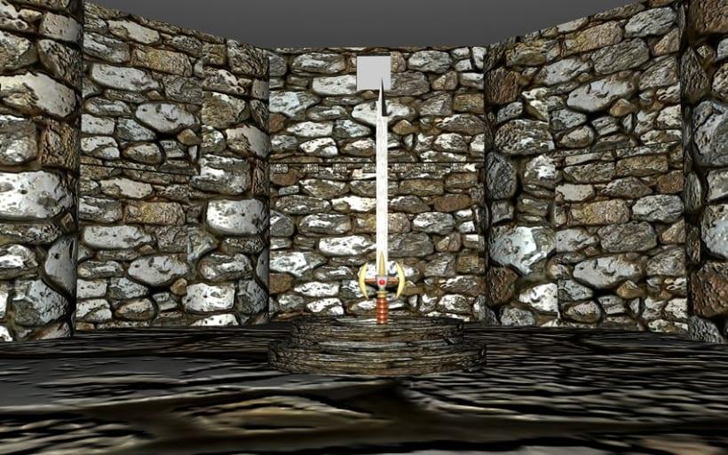 Ambientación de un Castillo y Espada Mediebal en 3d 4