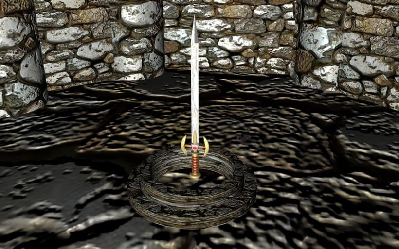 Ambientación de un Castillo y Espada Mediebal en 3d 5